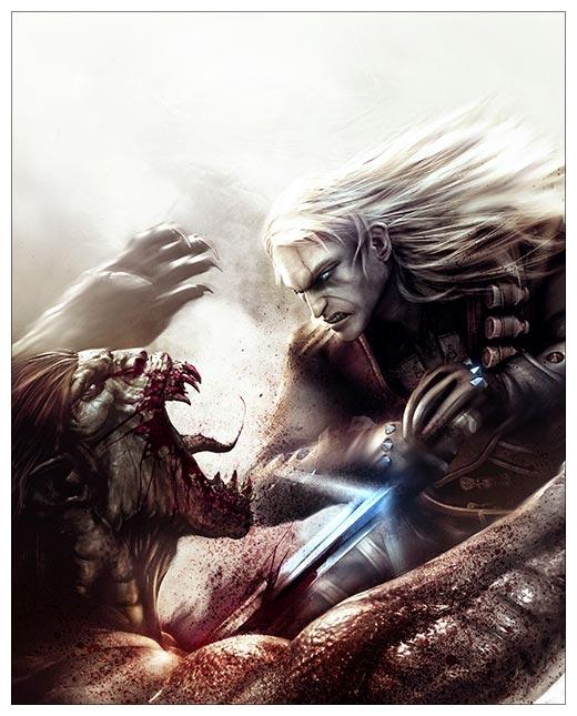 Хардпостер (на твёрдой основе) Witcher / Ведьмак